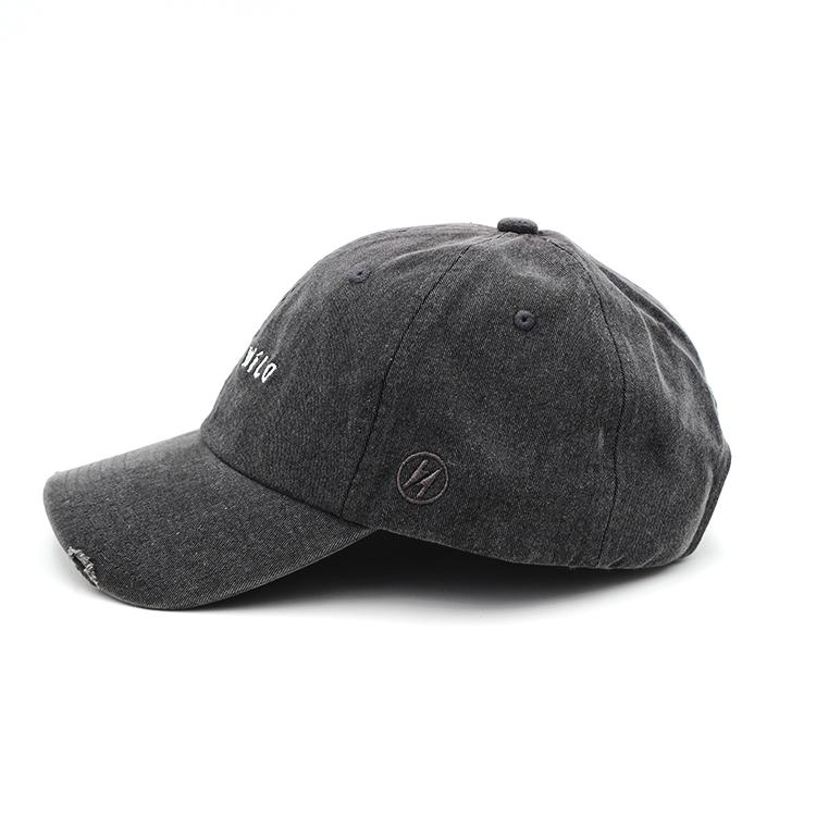 Оптовая продажа неструктурированные помытые хлопчатобумажные пользовательские логотипы Проблемные шляпы для папы