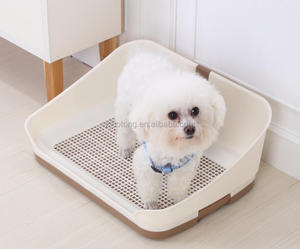 Dog Toilet for male dog Puppy Potty training tray with wall and pole