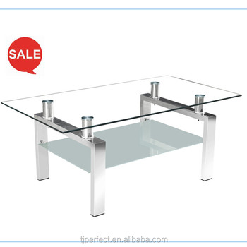 Perfect Modern Cheap Design Tempered Acrylic Swivel Top Square Glass Tea /Coffee  Table