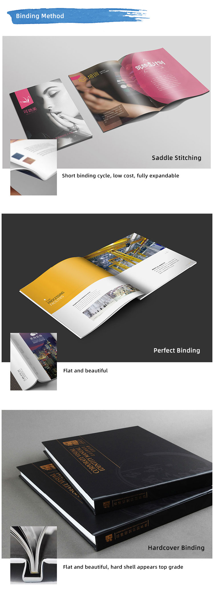 customized hardbound book cheap thick service hardcover book printing