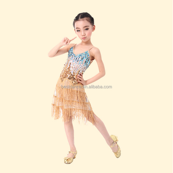 54e9dd63931c BestDance Kids Professional Latin Dancewear Costume Girls Tasseled Salsa  Dancing Dress OEM