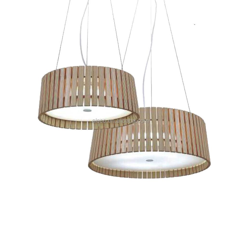 Decorative Led Lighting Round Wooden Pendant Light From Alibaba ...