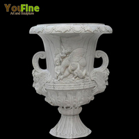 Garden Decoration Outdoor Natural Granite Carved Stone Planter
