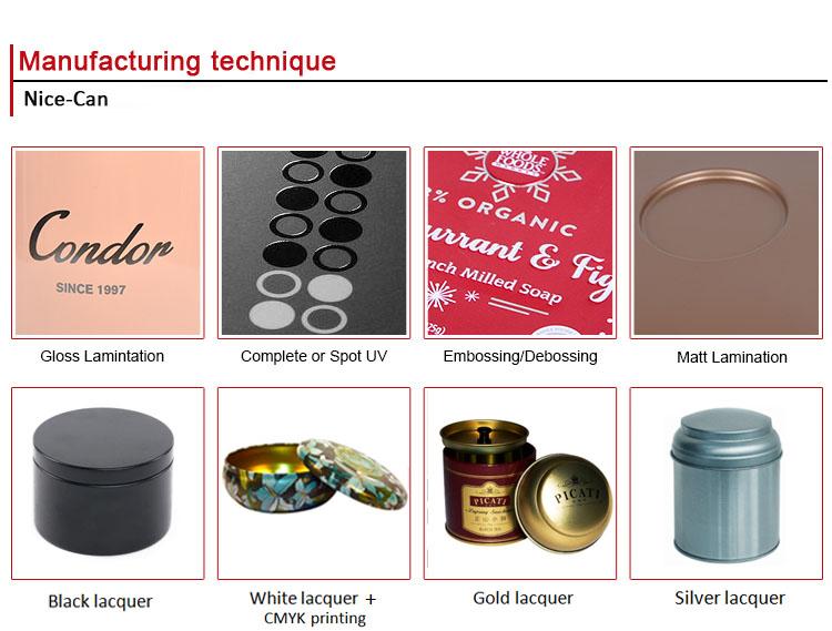 वायुरोधी Hinged खाद्य धातु टिन बॉक्स के साथ प्लास्टिक क्लिप ढक्कन टिन बॉक्स कॉफी चाय टिन पैकेजिंग कर सकते हैं