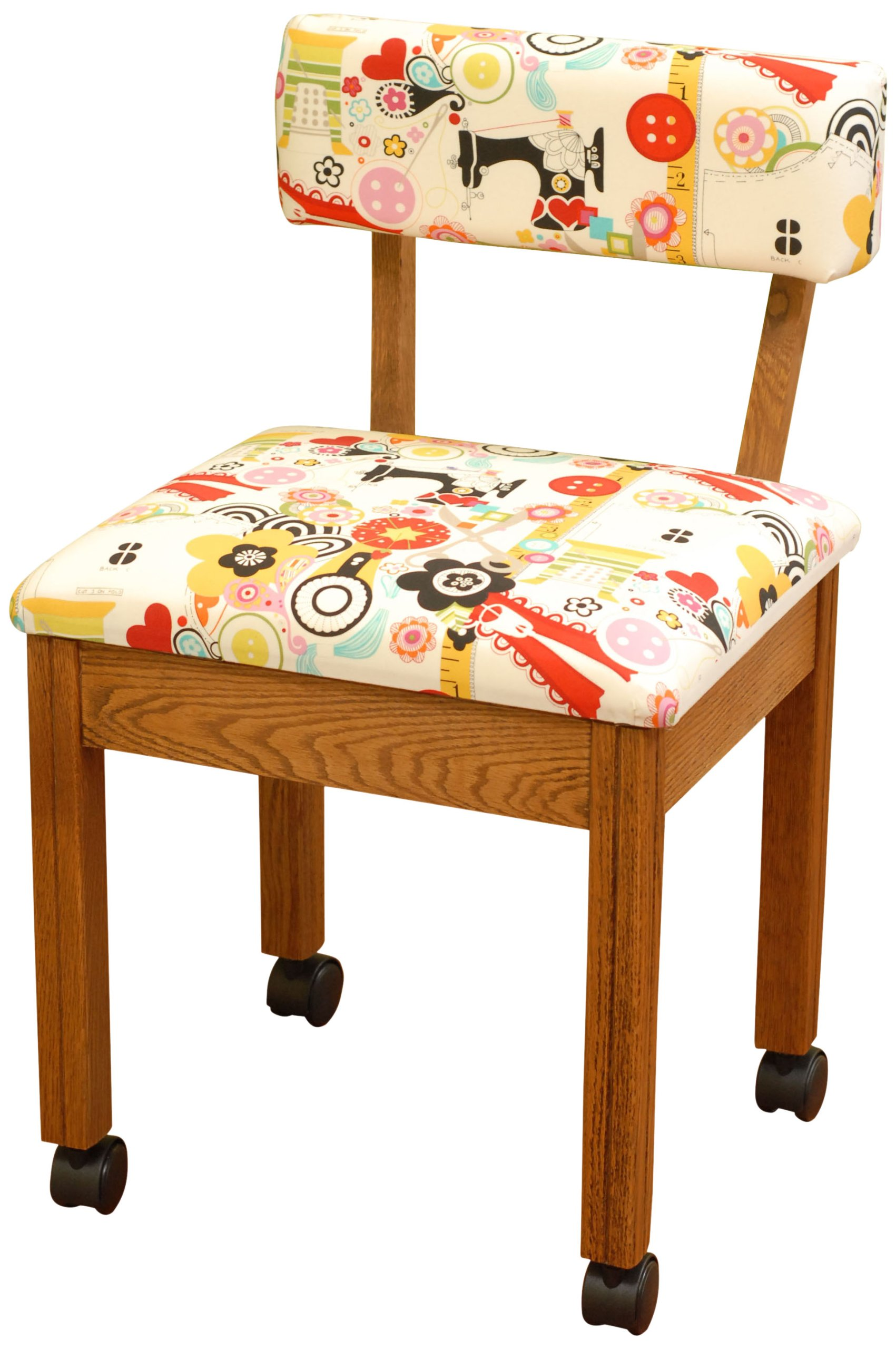 Get Quotations · Arrow Sewing Cabinets 2000 Sewing Chair For Any Craft  Room, Oak