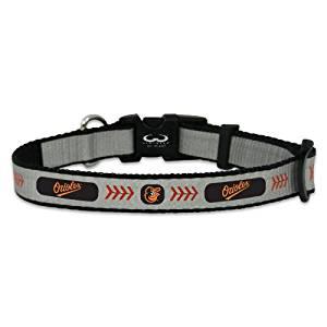MLB Baltimore Orioles Baseball Pet Collar, Reflective