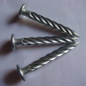 Stainless steel twist concrete nails
