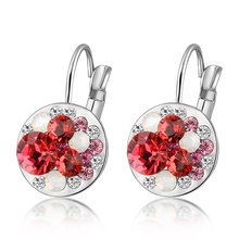 costume jewelry wholesale china red stone latest earring design