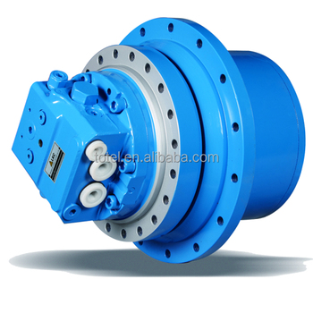 Hydraulic track drive traveling devices gearbox motor for Hydraulic track drive motor