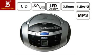 1.5W x 2 Portable CD Boombox with MP3 AM/FM Radio LED Display