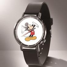 Новый роскошный бренд Микки Минни женские часы модные женские наручные часы с кожаным ремешком женские часы saat relogio feminino(Китай)