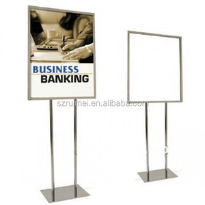 Double Sided Floor Standing Sign Holder with Weighted Base
