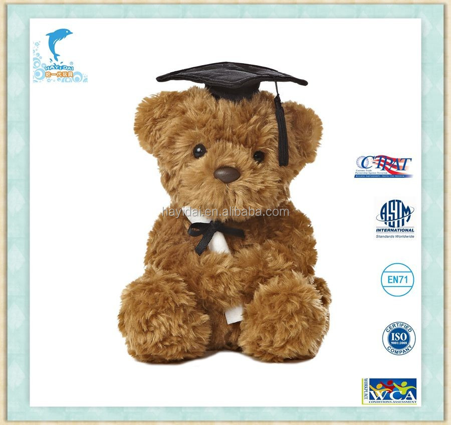 14 inch Light up Graduation Teddy Bear with Graduation Music