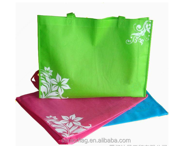wholesale customized OEM foldable tote shopping cheap printed reusable non woven collapsible promotional bag