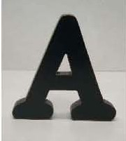 BEST SALE 6''H Vintage Wood Alphabet Black Letters Sold Separately, 26 Styles