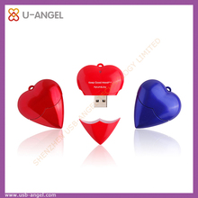 New customized logo heart shape gift USB flash drives with customized logo