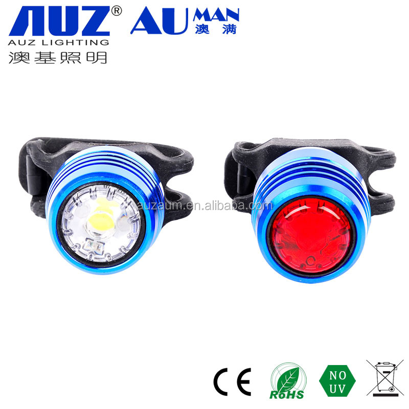 aluminum usb rechargeable Bicycle Light,2 LED Bike Bicycle Light Set