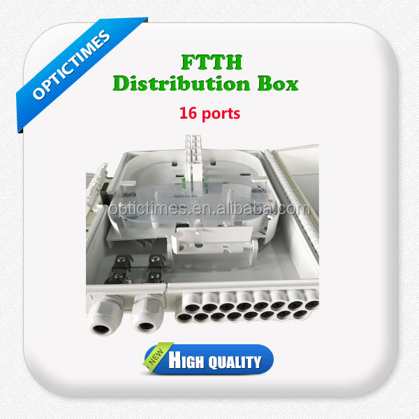 FTTH Outdoor Optical Fiber cable 16 core Distribution Box and Termination Box