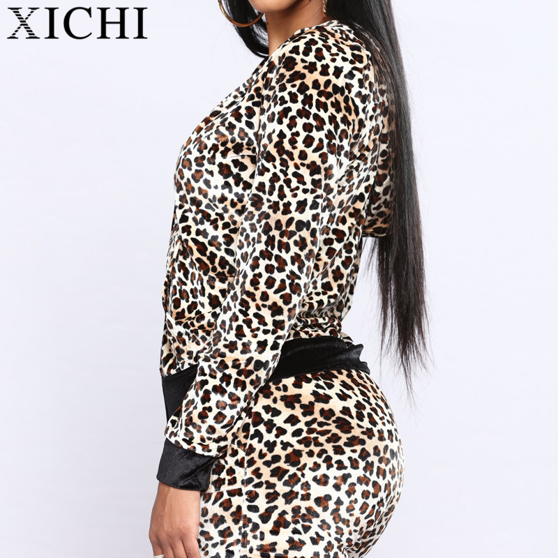 Custom wholesale lounge leopard print velour tracksuit from China garment  factory 3b98486f3