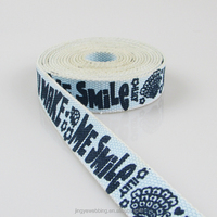 1 inch polyester cotton logo screen printing webbing for belt