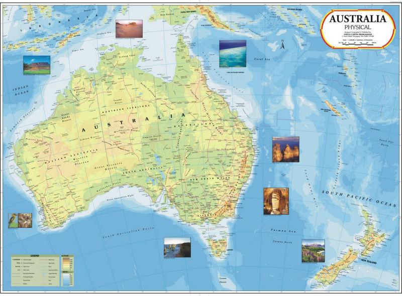 Australia Physical Map - Buy Australia Map Product on Alibaba.com
