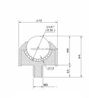 1106-d,1106-p,1106-s Ball Up Design Miniature Bearing Pom Or Peek ...