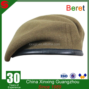 ad265f7d2e505 Unisex 100%wool Red Color Military Beret Police Office Army Beret ...