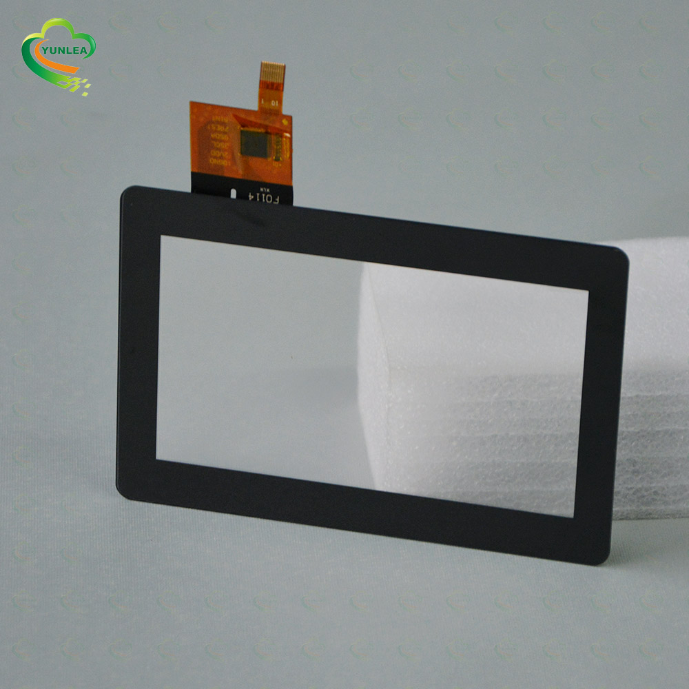 Small size Black Silk-printing color Glass+Glass I2C 4.3 inch Touch screen panel kit PCAP