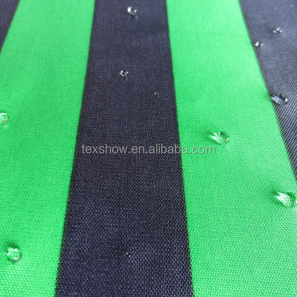 Black&green stripe nylon fabric for lawn chair/awning/luggage made in china