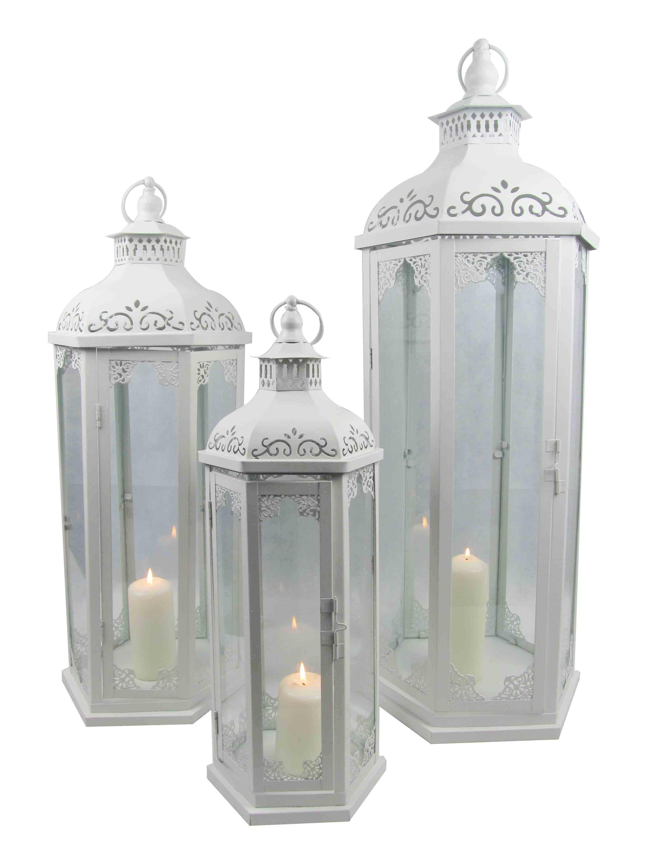 Blanc Jardin D Coration De Mariage Bougie Marocaine Lanterne