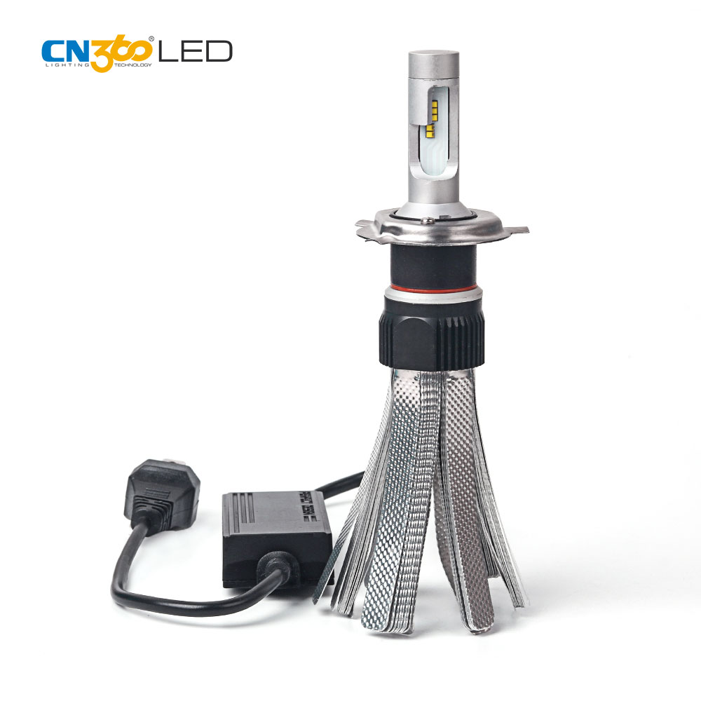 Better heat dissipation 5700K h4 led lights, headlight car led