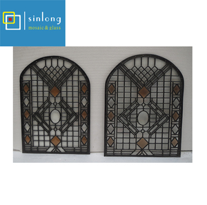grape design tiffany stained glass panel for door
