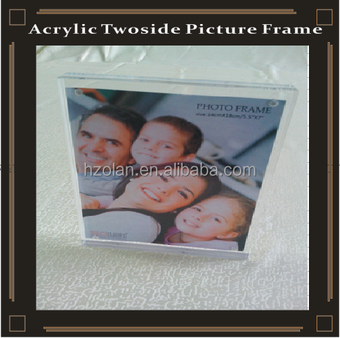 10mm clear doube side picture frame