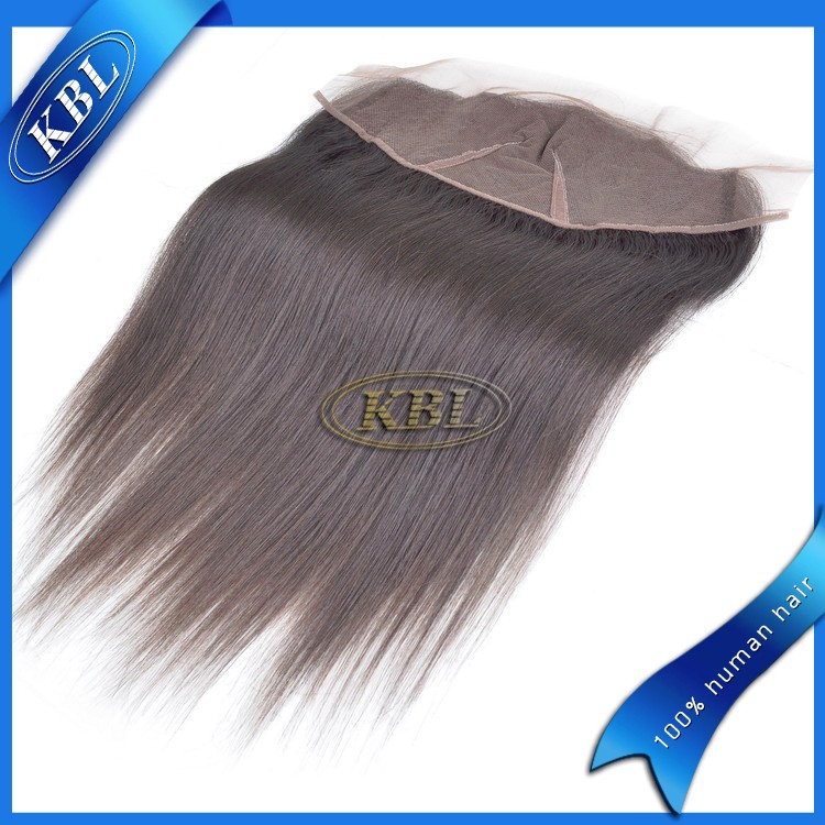 13*3 Silky straight virgin brazilian hair lace frontal with clear middle parting