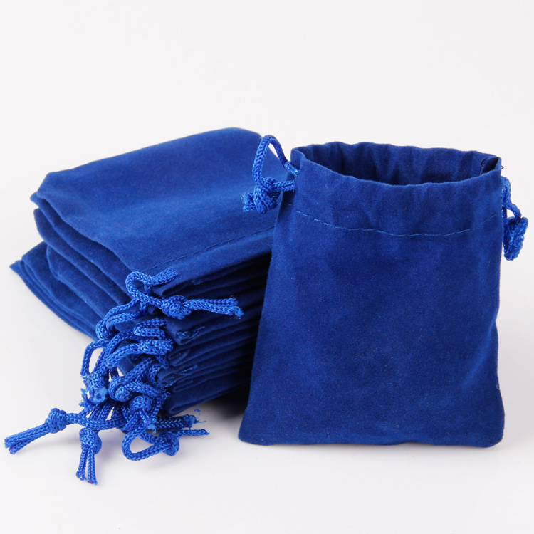 b52734fedb2a54 Buy 50pcs wholesale blue and gold velvet jewelry pouch bag for gift on  wedding christmas beauty design 9*12 in Cheap Price on Alibaba.com
