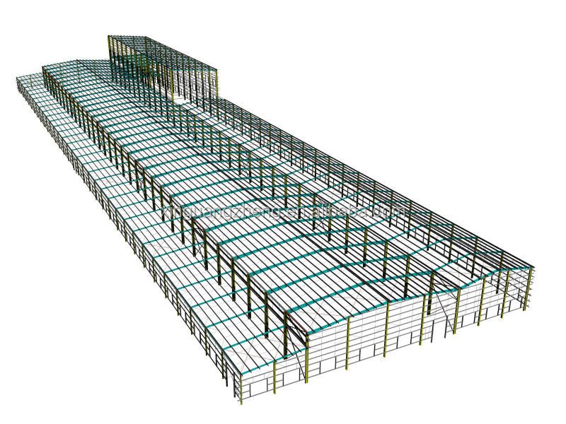 BV proved factory steel structure warehouse shop drawing