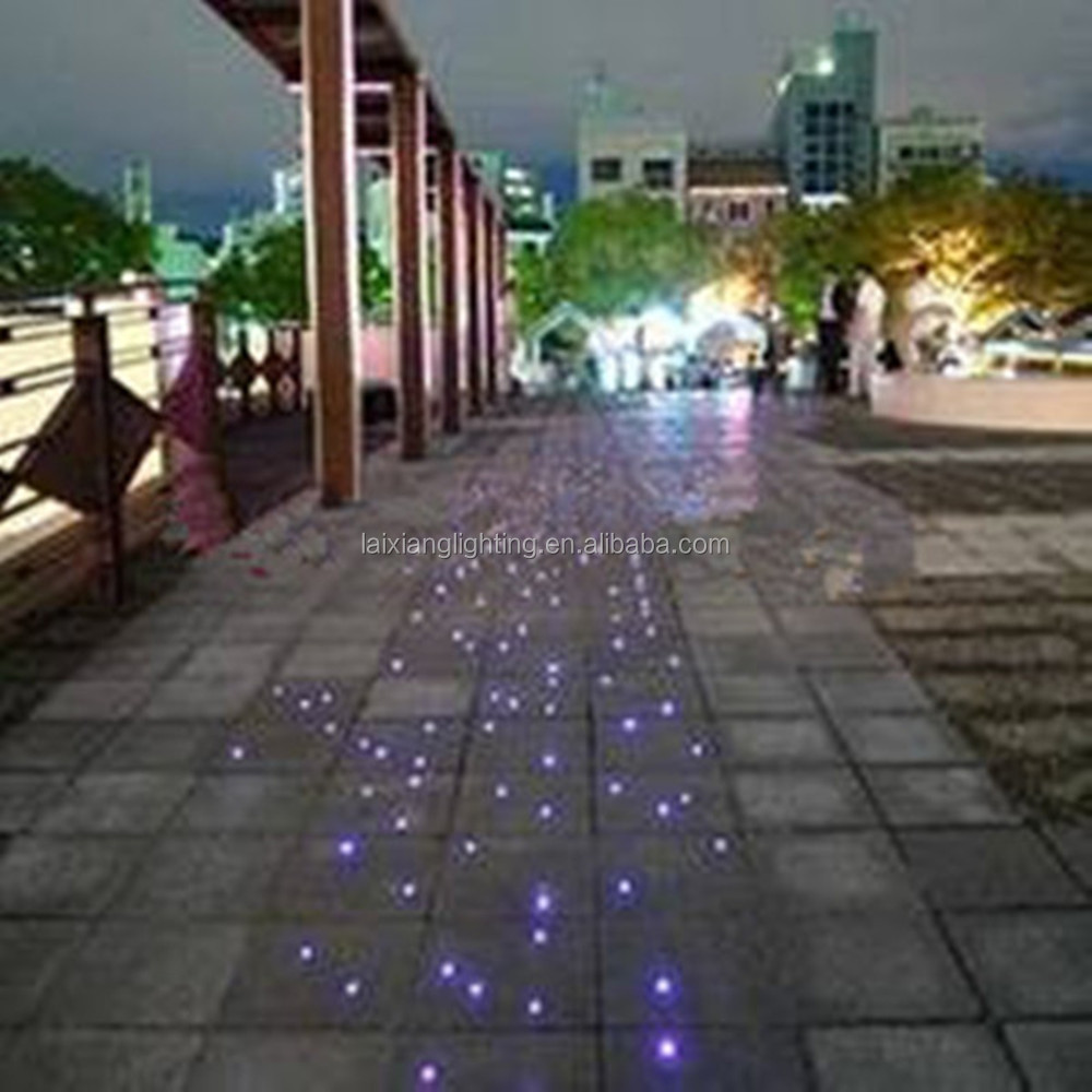 Estrela ch o ilumina o de fibra ptica ao ar livre outros for Iluminacion de piso