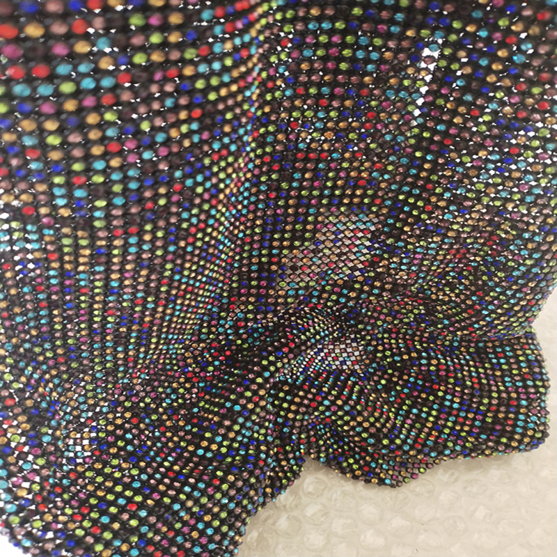 Factory Supplier fashion hot fix rhinestone mesh decorative stone trim crystal for dresses
