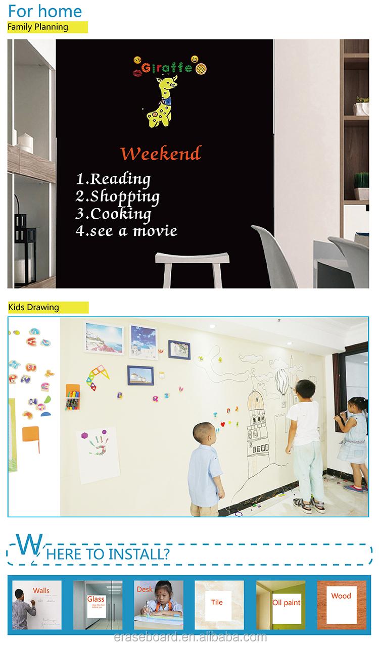 120x90 cm Lijm Greenboard Set Muur Schoolbord Magnetische Droge Wissen Boord Vel Kantoor Vergadering School Leren Onderwijs