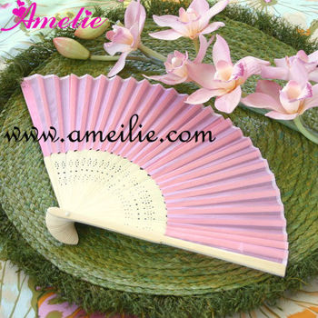 Personalized Hand Fans Wedding Favor