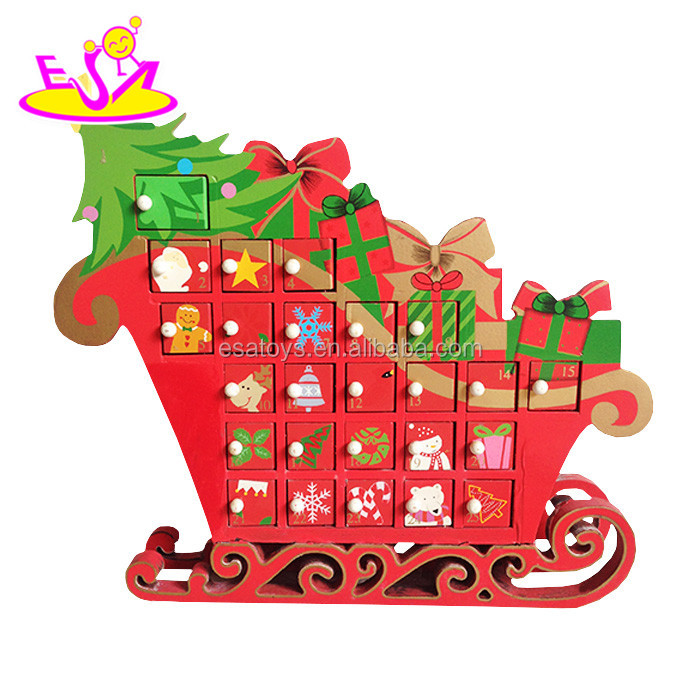 2016 wholesale high quality wooden christmas calendar W02A171