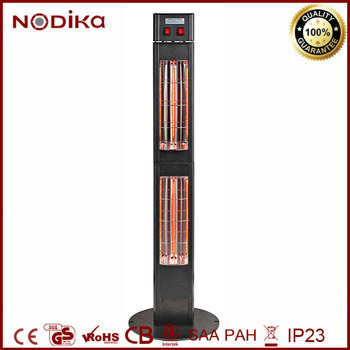 Vertical Standing Outdoor Electric Heater Two Section Patio Infrared Heater  3000W