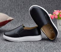 Children Shoes Kids Leather Sneakers Boys Girls Boat Slip On Soft Sole Casual shoes