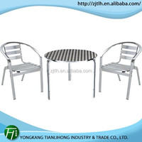 high quality cast aluminum table and chair