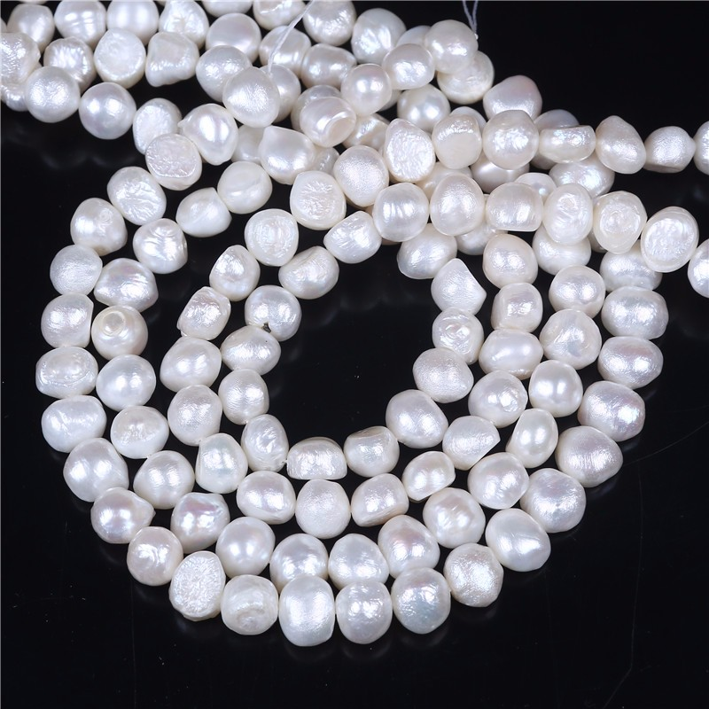 Genuine Baroque Natural freshwater pearl strand
