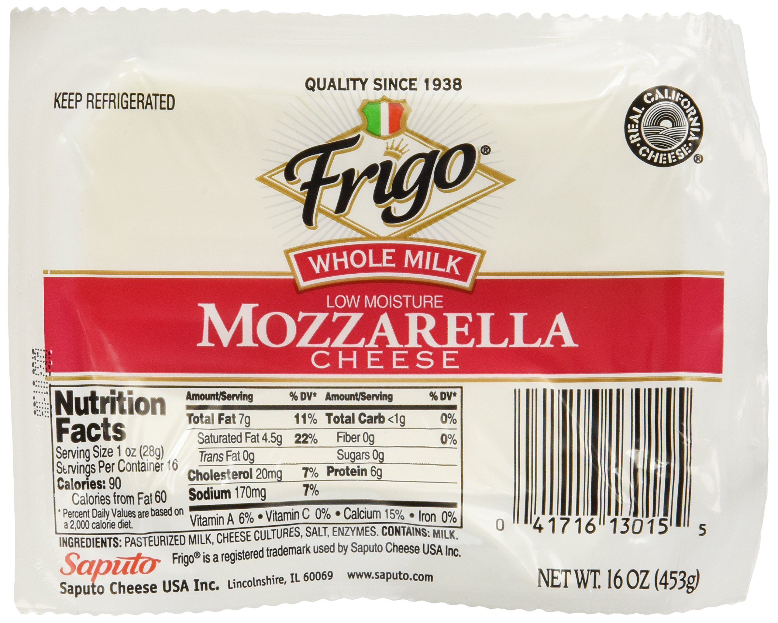 Frigo, Mozzarella Cheese, 16 oz