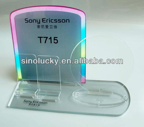 acrylic mobilephone display for shops