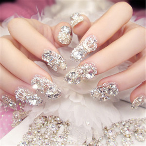 2019 Wholesale Price 24pc 3D Nails Pretend Full Nails Patch Bride Bridesmaid Studio Wedding Nail Sticker