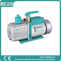 China 12 CFM 2RS-4 two stage dual stage refrigeration rotary vane air vacuum pump