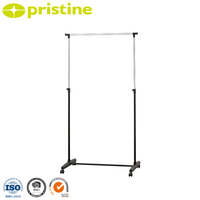 metal collapsible folding garment hanging stand